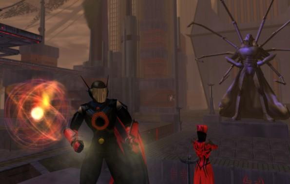 Vortex Blast chilling in Grandville, with Singularity and Fortunata pets