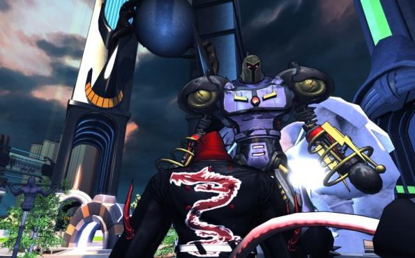 Mr Mega-Destroid pops in