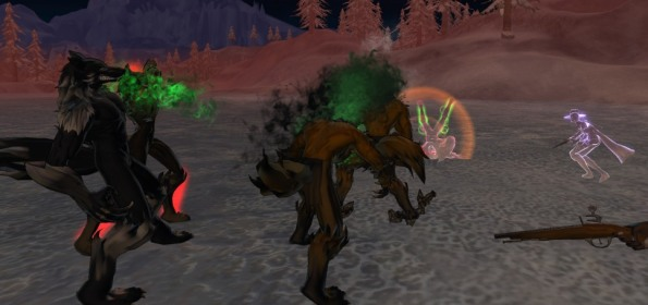 Our werewolf team hunting down some hunters