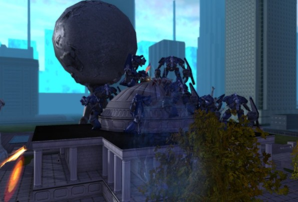 A flock of Warwalkers has landed on City Hall