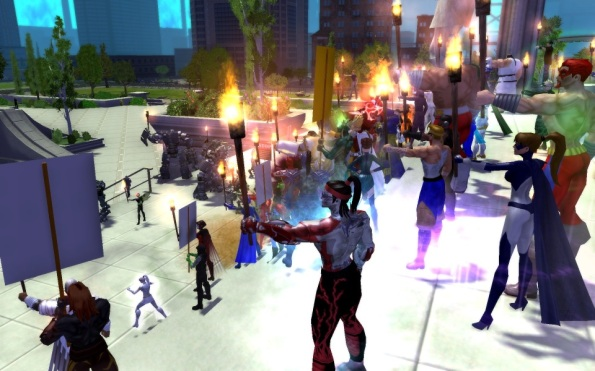 Players join to show their support for Paragon Studios and City of Heroes