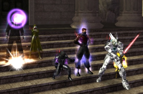 The team after completed Time's Arrow task force - Mister Bob, Nashira, Nightshadow, Lyt, Gunhed Omega and Freak a Nature.