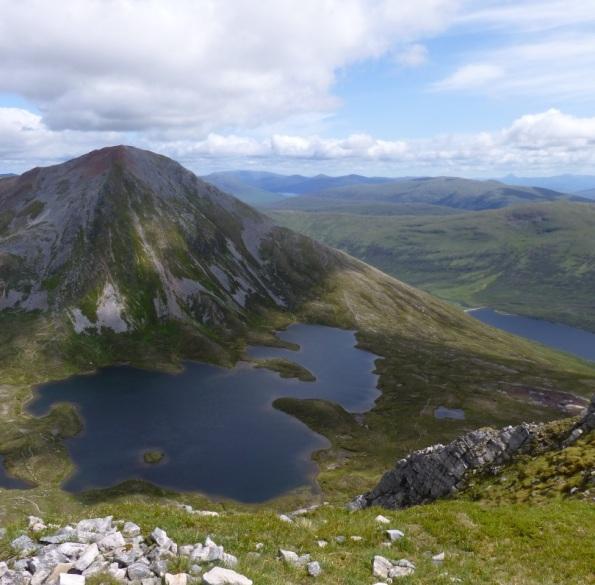 View of the mountain Sgurr Eilde Mor, from top of Sgor Eilde Beag.